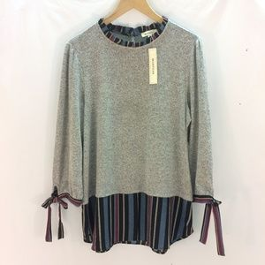 MONTEAU, INC.  Layered Look Sweater XL NWT